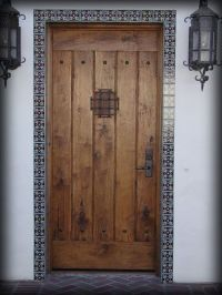 Mosaic tile door trim | New Mexico | Pinterest