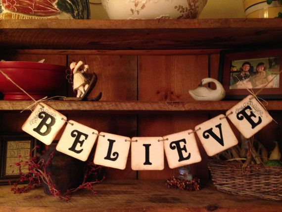 Christmas Garland, Holiday Garland, Christmas Bunting, Believe Bunting