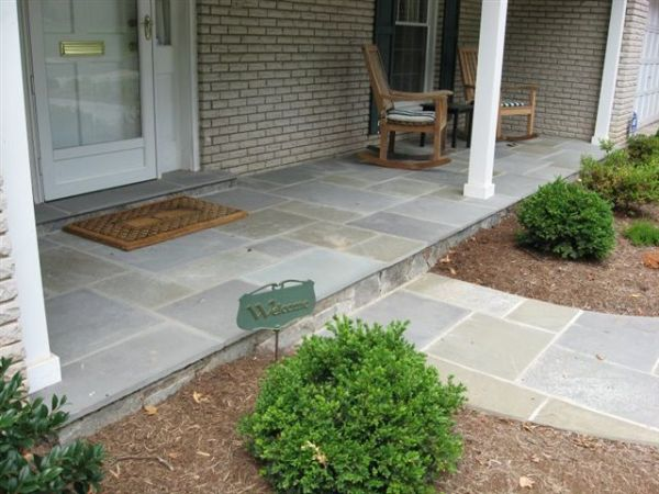 front yard walkway and step #landscaping