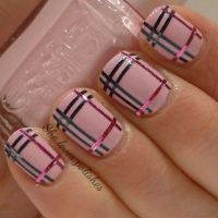 Strips amp; polish nail art design