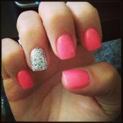 coral nails. nail art
