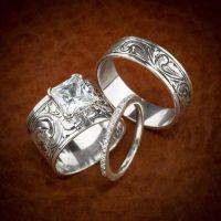 Western wedding ring set, lOVE LOVE LOVE | Dream wedding ...