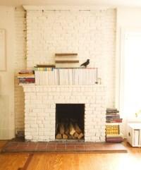 White painted brick fireplace | Kenton Way | Pinterest