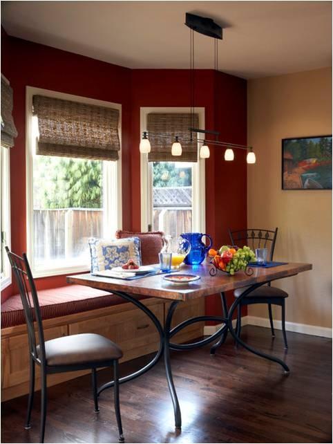 Dining Room Bay Window Seat  casa  Pinterest
