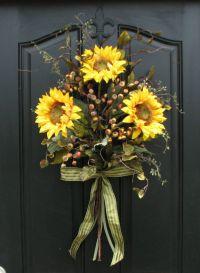 Sunflower Bouquet, Front Door Decor, Summer Wreath, Wild ...