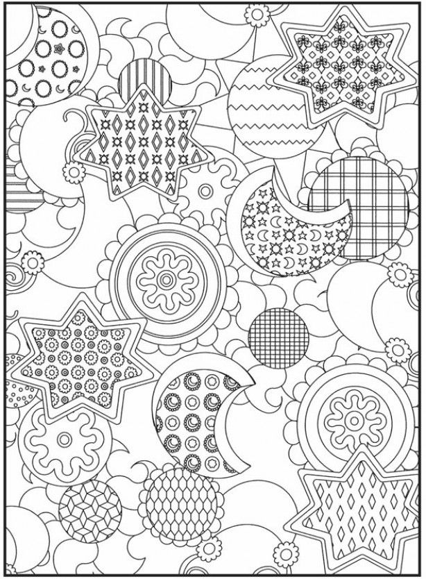 moon and stars coloring page  coloring pages  pinterest