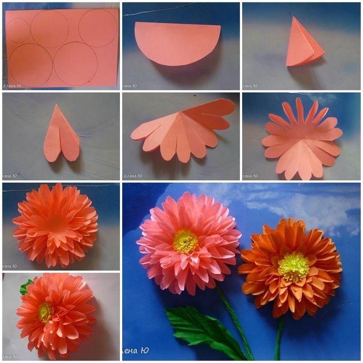 How to Make Paper Dahlias