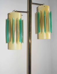 Tension pole lamp shades. | Mid-Century Tension Pole Lamps ...