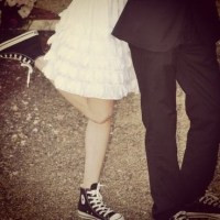 Prom dresses and converse