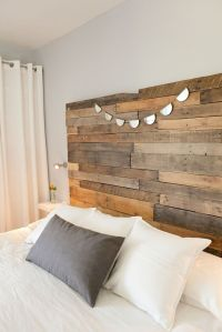 Reclaimed wood headboard | things to do with barn wood ...