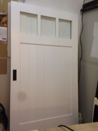 White barn door with frosted glass | Barn door and barn ...