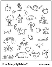 NEW 866 COUNTING SYLLABLES WORKSHEETS FOR KINDERGARTEN
