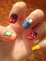 disney nail art design