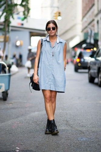 Perfectly versatile oversized shirt dress! Photos by YoungJun Koo