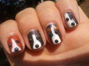 dog nail art creative