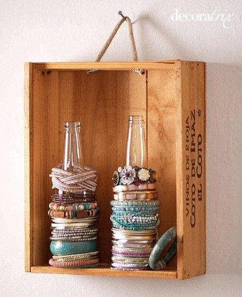 What a great way to store bracelets!