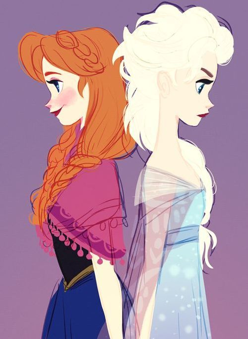 Queen Elsa and Princess Anna - Frozen