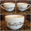 Lord of the rings cappuccino mug lotr oneringtorulethemall