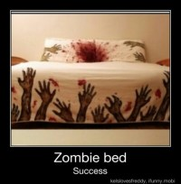 Zombie Bedroom Cake Ideas and Designs