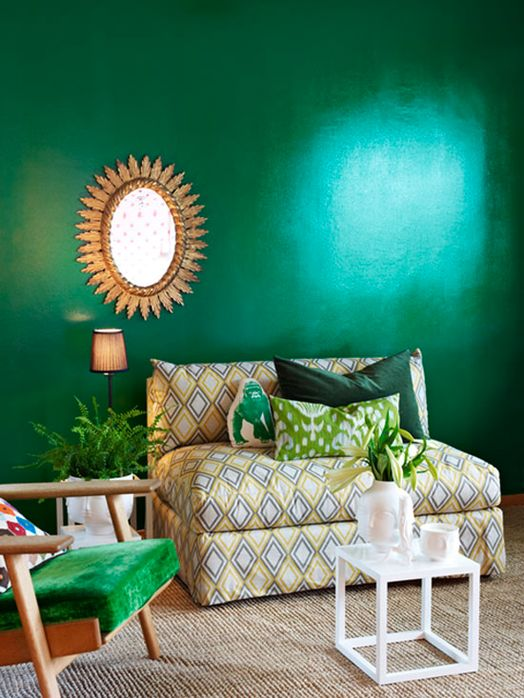 Emerald green & a touch of gold