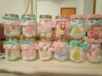 Mason jars decorated for a baby shower | Gift Ideas ...