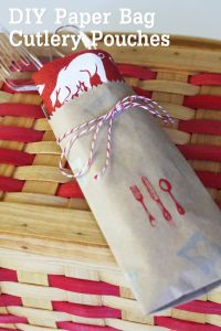 {DIY} How to Make Paper Bag Cutlery Pouches