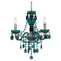 Teal chandelier | Home decor | Pinterest