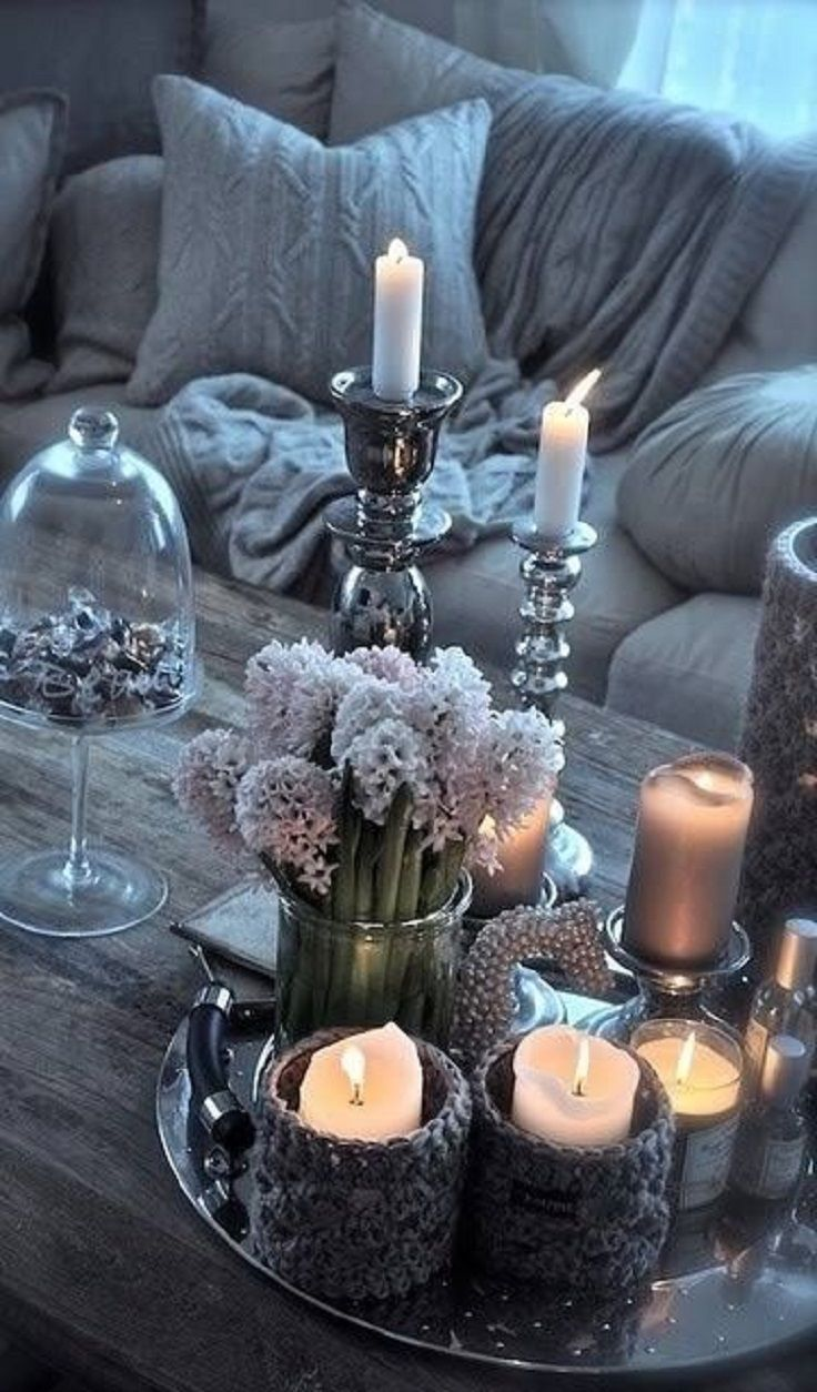 Candles are all you need if you want to bring a cozy atmosphere to your home!