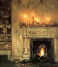 romantic fireplace   By The Fire   Pinterest