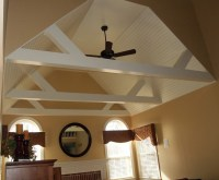 Vaulted Ceiling Beams | Interior coolness | Pinterest