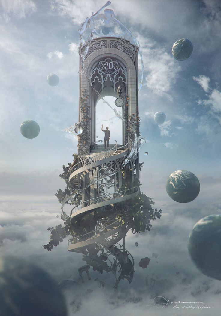 Knocking on heaven's door Picture  (3d, fan art, surrealism)