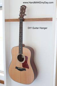 My DIY Guitar Wall hanger | Organize Stuff | Pinterest