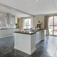 Slate Tile installed in Kitchen Floor | DIY - Home | Pinterest
