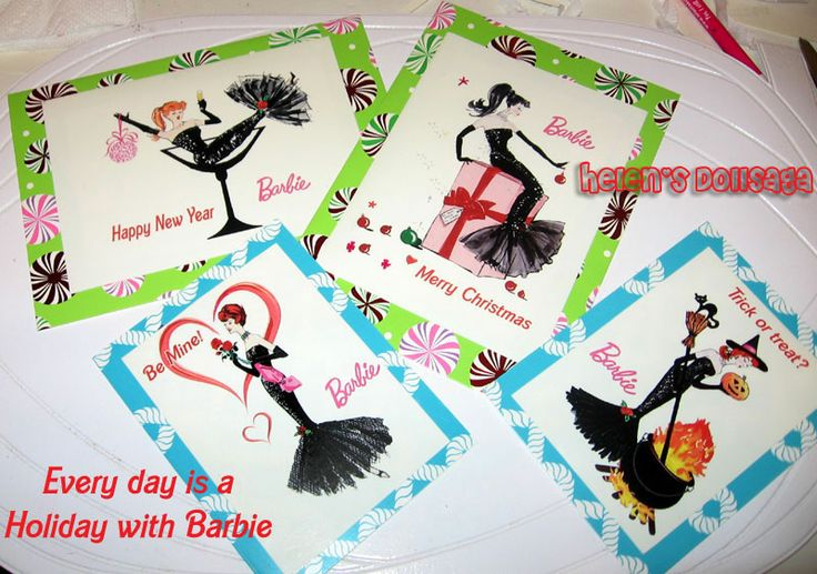 2014 Barbie Convention themed Greeting Cards Handmade by Helen