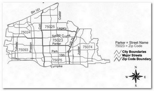 Plano Zip Code Boundaries Map