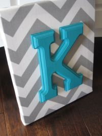 Wall Canvas Letters, Nursery Decor, Nursery Letters ...