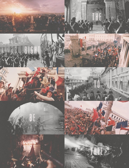 "Les Mis (2012) | ""The right to be free."" Out takes from the barricade/battle scenes of Les Misérables. Old Royal Naval College, Greenwich, London."