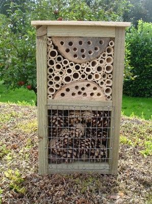 Bug box bee house insect hotel mini beast habitat & shelter 325x190mm