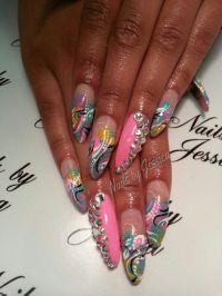 Long Nail designs   Nails   Pinterest