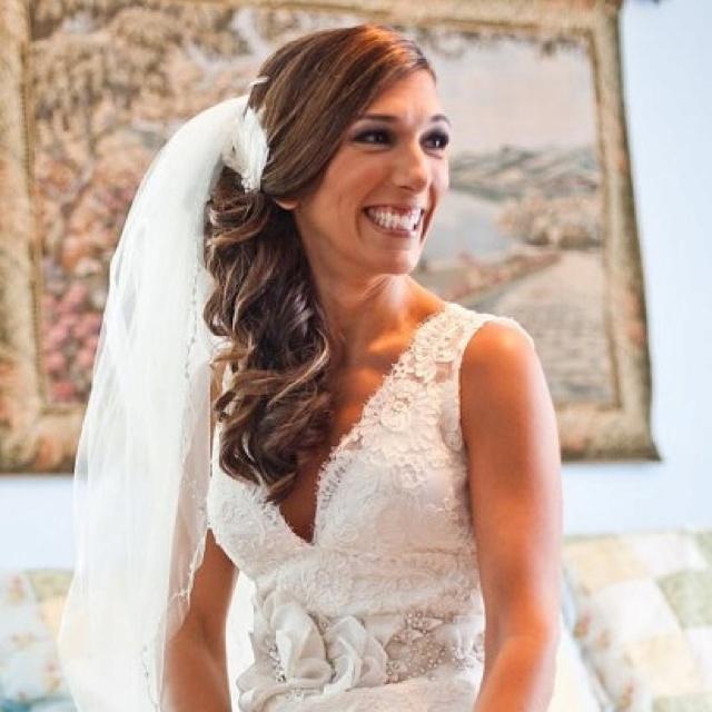 wedding hair side curls  Wedding  Pinterest