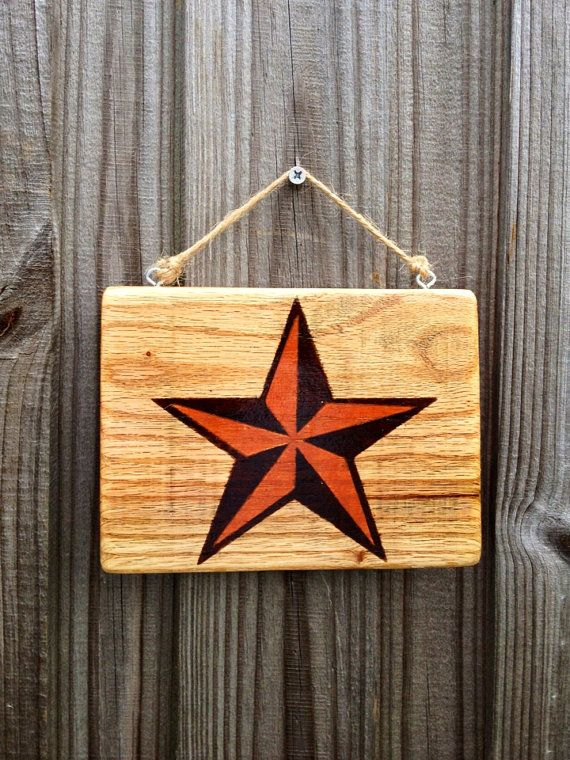 Reclaimed Pallet Wood Nautical Star Small Hanging Wall Decor