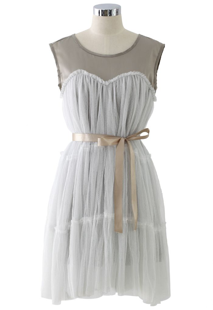 Dreamy Fluffy Dress in White