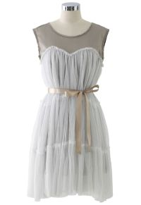 Dreamy Fluffy Dress in White