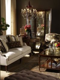 Chocolate Brown Living Room Interiors | dark and cozy ...