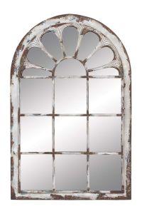 Distressed Window Mirror Wall Decor | Dream Home! | Pinterest