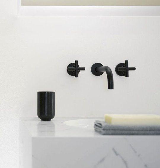 Fresh Bathroom Decorating Ideas Beautiful Black Fixtures