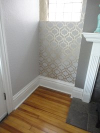 Stencil wall with Metallic Paint   Painting Ideas   Pinterest