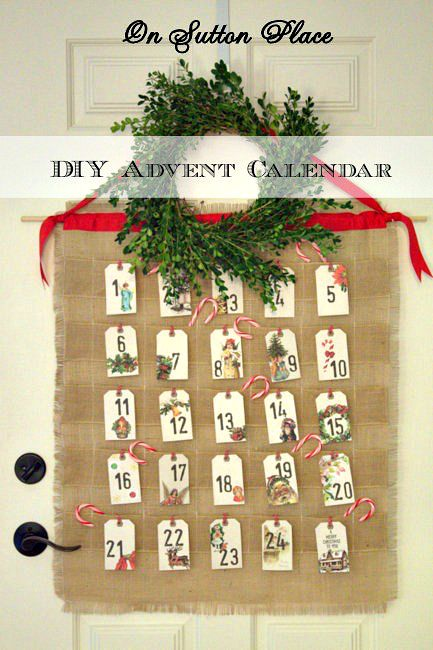 Tutorial with pictures for making this DIY #Burlap #Advent Calendar that will last for years!
