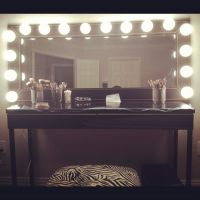 Do it yourself makeup vanity mirror. | Vanities | Pinterest