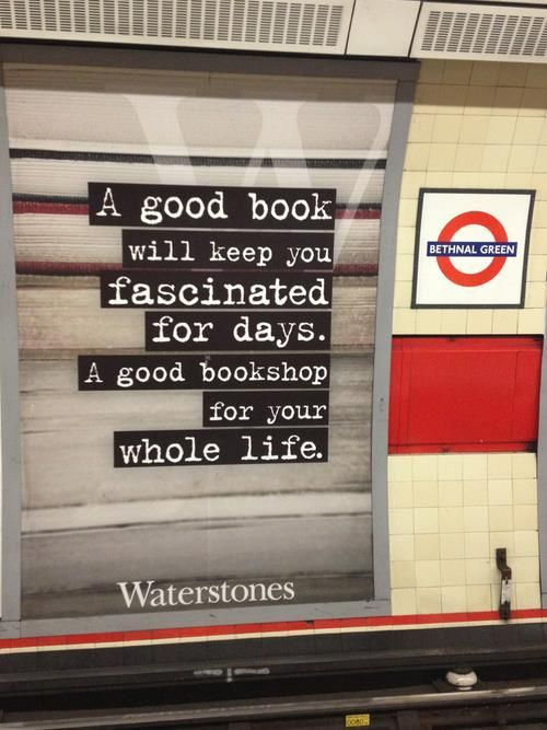 Waterstone's ad